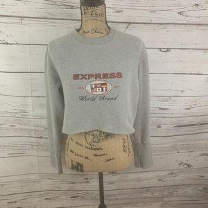 90's Express Cropped Sweatshirt